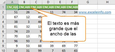 Tabla de ejemplo en Excel