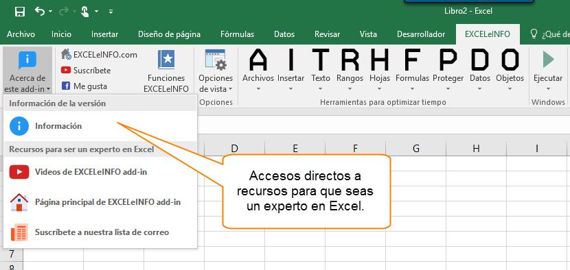Accesos directos a recursos para que seas un experto en Excel.