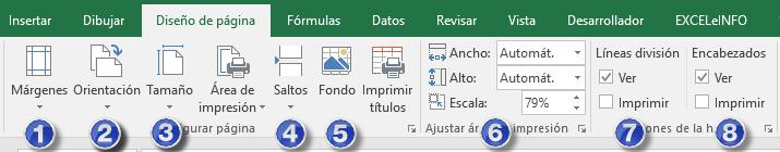 Configuración de página en Excel