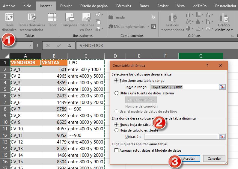 Tabla dinámica en Excel