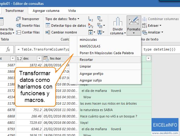 Transformar datos como haríamos con funciones y macros.