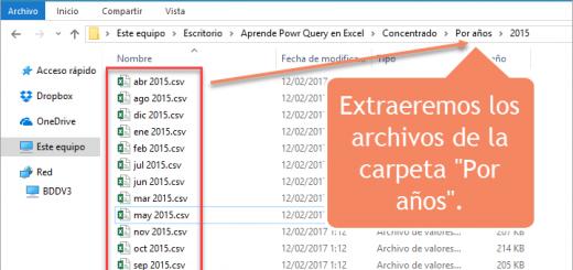 Aprendamos Power Query para Excel – 4 - Importar todos los archivos de una carpeta