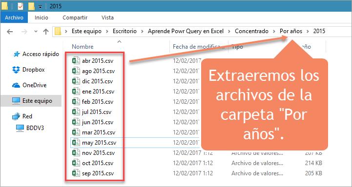 """Extraeremos los archivos de la carpeta """"Por años""""."""