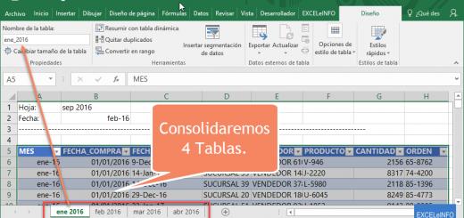 Aprendamos Power Query para Excel – 5 – Consolidar información de hojas