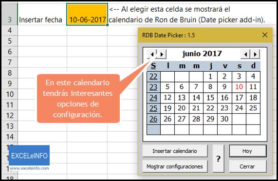 Guía definitiva para el uso de calendarios en Excel | EXCELeINFO