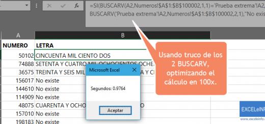 Hacer que BUSCARV calcule más rápido en Excel con truco de doble BUSCARV