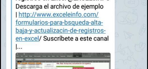 Recibe notificaciones en tu celular y correo electrónico de EXCELeINFO