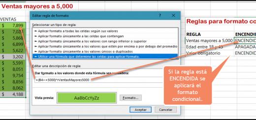 Encender apagar Formatos condicionales en Excel - EXCELeINFO