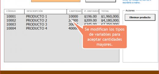 Actualización 2: Formulario de punto de venta en Excel vba probado con lector de código de barras