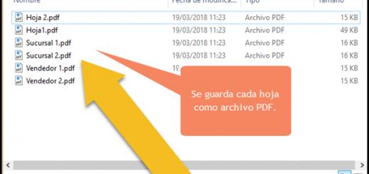 Guardar hojas en archivos PDF en Excel usando VBA y macros