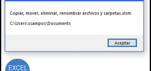 Copiar, mover, eliminar y renombrar archivos y carpetas desde Excel con VBA y macros