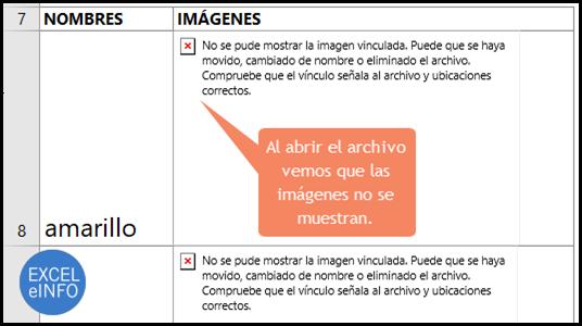 Las imágenes no se muestran porque le cambiamos el nombre a la carpeta de las imágenes.