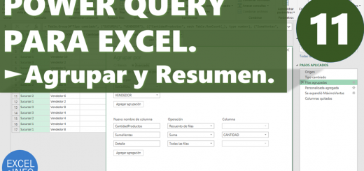 Power Query para Excel - Cap. 11 - Agrupar y Resumen