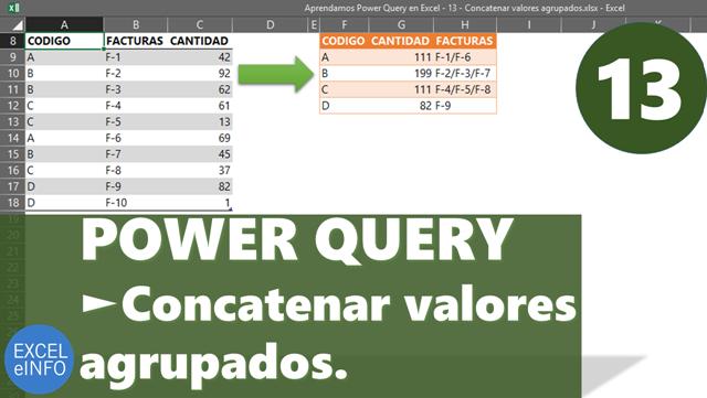 Power Query para Excel - Cap. 13 - Concatenar valores agrupados