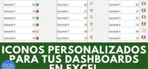 Iconos personalizados y Formato condicional para tus Dashboards en Excel