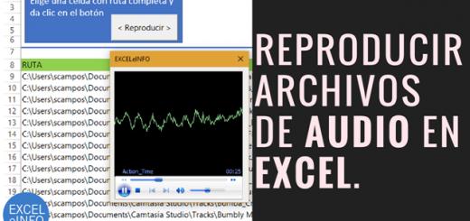 Reproducir archivos de audio en Excel y vba con control de Windows Media Player