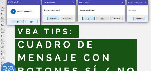 Mostrar Cuadro de mensaje MSGBOX con botones Sí No antes de ejecutar una macro