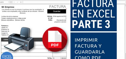 Factura en Excel Parte 3 - Imprimir factura y guardarla como PDF