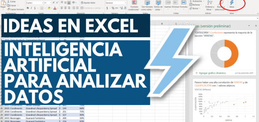 Ideas en Excel. Analiza mejor tus datos con Inteligencia artificial