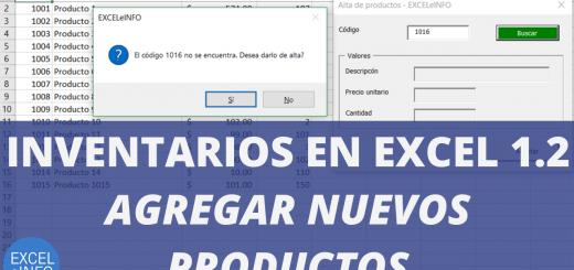 Inventarios en Excel Parte 1.2 - Formulario de Alta de productos