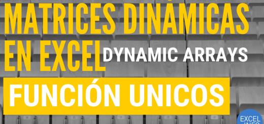Función UNICOS - Funciones de Matrices Dinámicas en Excel