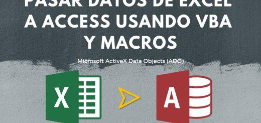 Insertar registros en tabla de Access desde Excel usando VBA y ADO