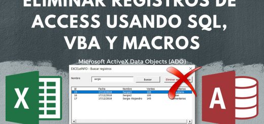 Eliminar registros de Base de Access desde Excel usando SQL Query, VBA y ADO