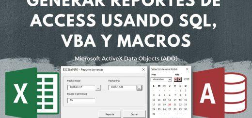 Generar Reportes de Base de Access desde Excel usando SQL Query, VBA y ADO