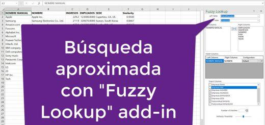 Cómo usar el add-in Fuzzy Lookup para Excel