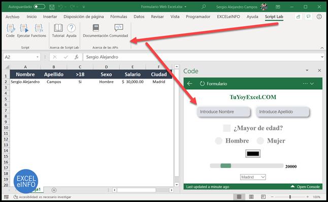 Script Lab para programar en TypeScript / JavaScript, HTML y CSS.