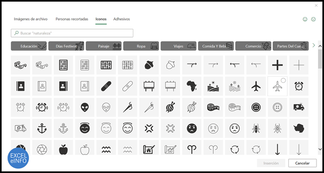 Set de iconos para usar en Office 365.