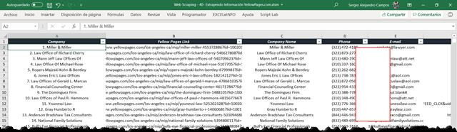 Devolver datos de páginas Web a Excel usando Web Scraping con VBA.