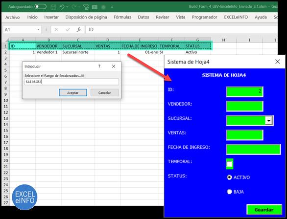 Generador de Formularios en Excel