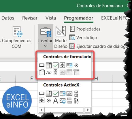 Controles de formulario y controles ActiveX