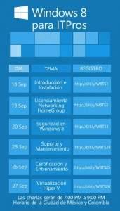 "Charlas ""Windows 8 para ITPros"""