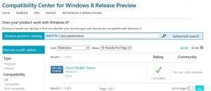 Centro de compatiblidad para Windows 8