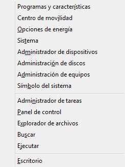 Unattended el menu-X en Windows 8