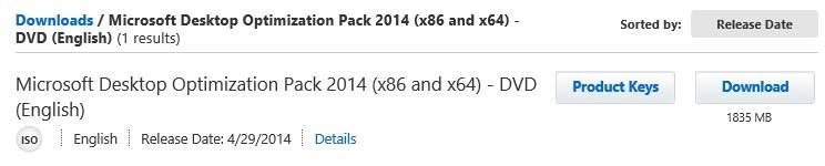 Microsoft Desktop Optimization Pack 2014, Disponible !!