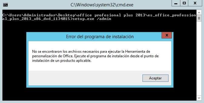 Mensaje de error cuando desatendemos Office Pro Plus 2013 y su solución (OCT)
