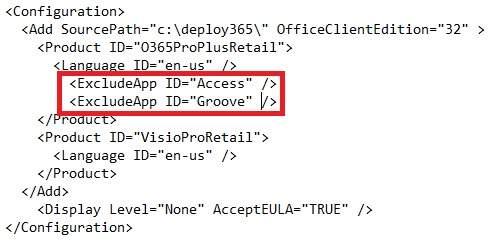 "Office 365 ProPlus con ""clic-to-run"" ya soporta (ExcludeApp ID)"