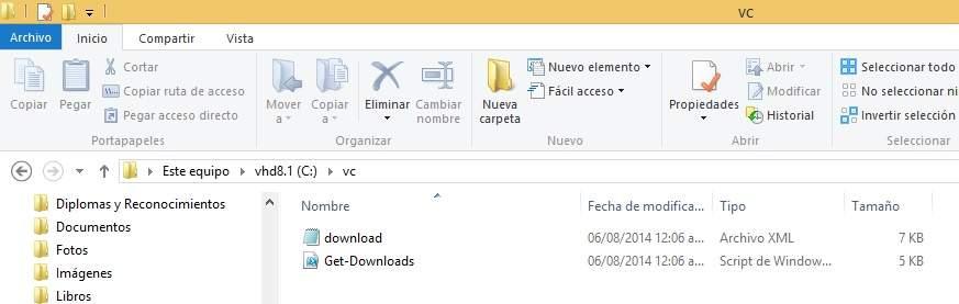 Descargar los instaladores de Visual C++ con script de Powershell