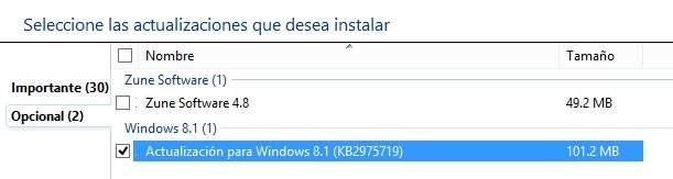 Obtener ultimas actualizaciones para Windows 8.1