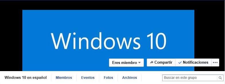Grupo Oficial de Windows 10 en español ahora facebook
