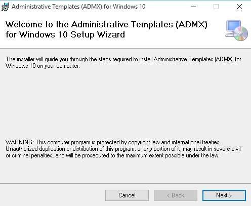 Plantillas Administrativas ADMX en Windows 10