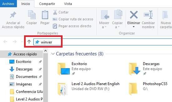 Ejecutando Comandos directamente del Explorador en Windows 10