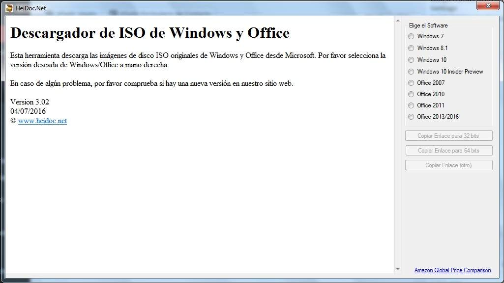 Microsoft Windows y Office ISO Download Tool (TechBench)