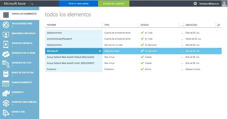 Configurar VPN Point to site en Microsoft Azure y Windows 10 Parte 1