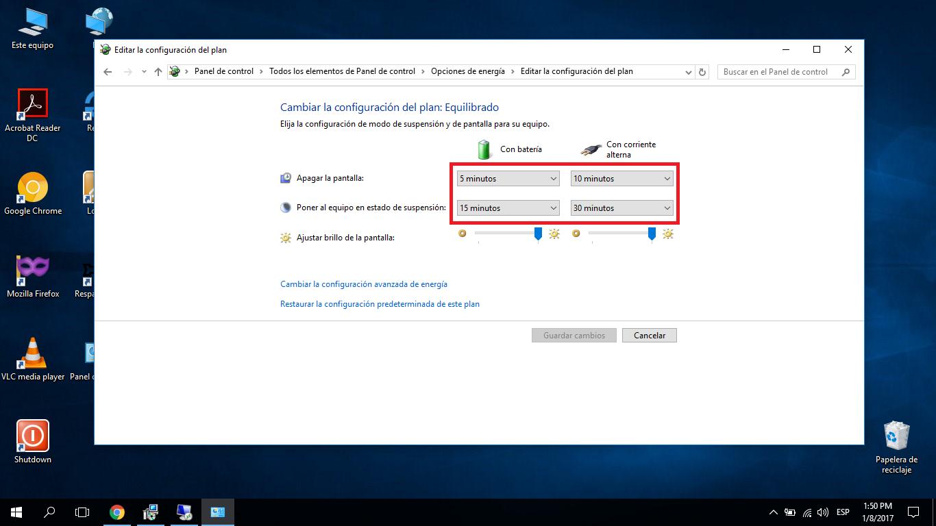 Personalizar el plan de energía en Windows 10 durante el despliegue con MDT