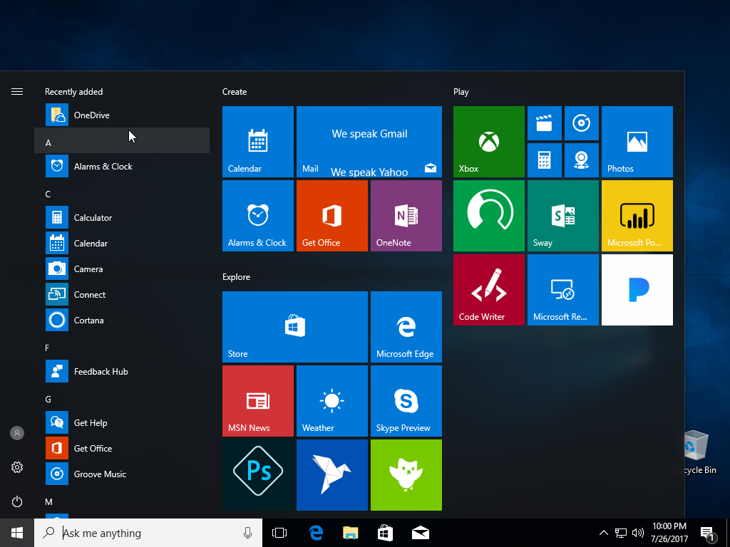 Implementar StartLayout y Taskbar personalizados en Windows 10 con MDT
