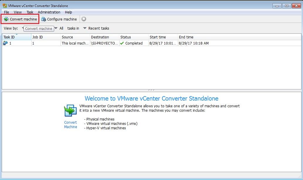 P2V Convertir Virtual Disk Image VMWare VMDK a VirtualBox VDI